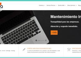 diseño pagina web de informatica